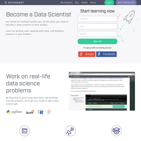 Learn Python and R for data science. Learn by coding and working with data in your browser. Build your portfolio with projects and become a data scientist.
