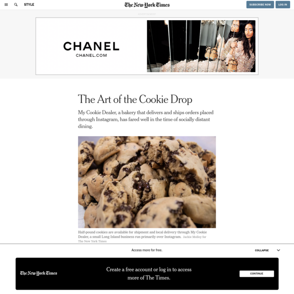 The Art of the Cookie Drop