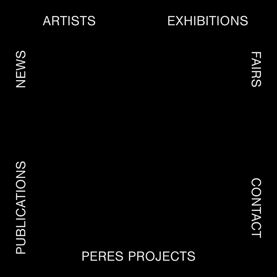 Founded by Javier Perés in San Francisco, California in 2002, Peres Projects is a Berlin-based gallery promoting contemporary American and European artists to an international audience. Gallery artists have been included in a wide array of internationally renowned exhibitions and their works are regularly exhibited by leading museums. Working closely with collectors, art advisors, and institutions, the gallery assists in building important collections of contemporary art.