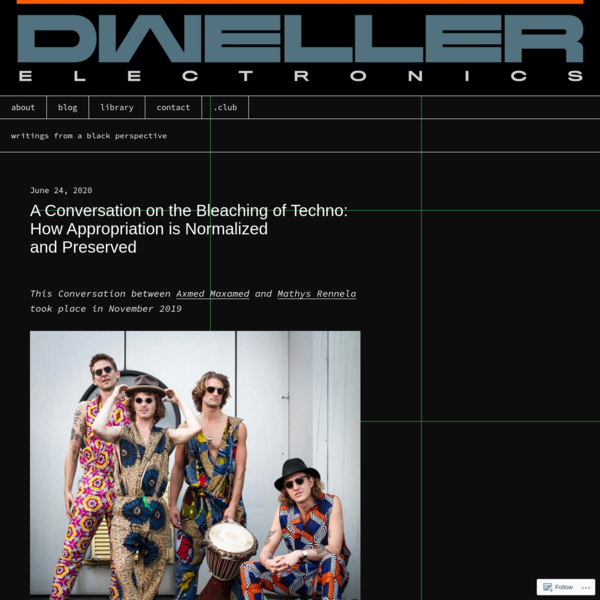 A Conversation on the Bleaching of Techno: How Appropriation is Normalized and Preserved