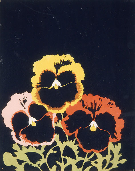 Joe Brainard, Three Pansies, 1967
