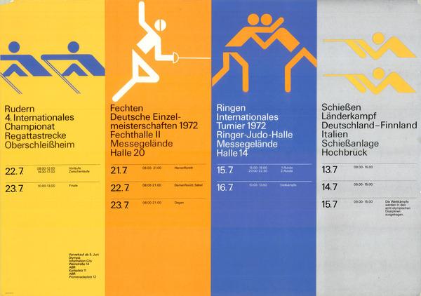 1972 Munich Olympics Program