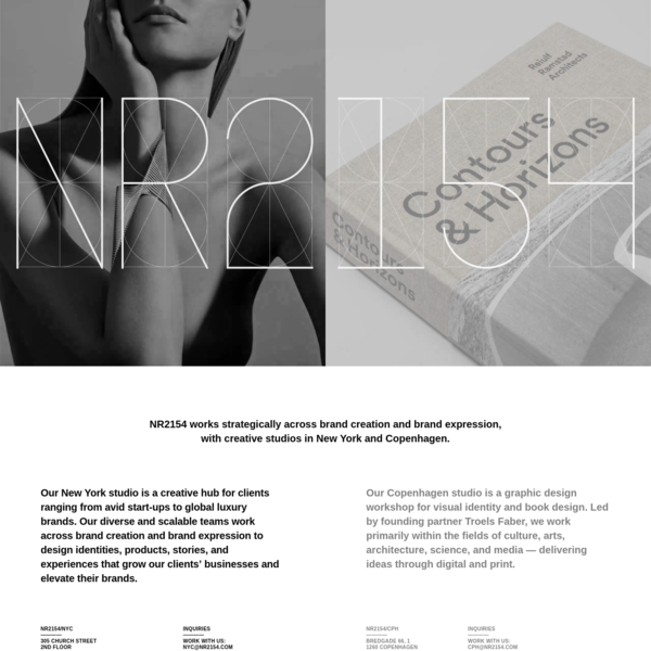 NR2154 - Creative studios in New York and Copenhagen working strategically across brand creation and brand expression.