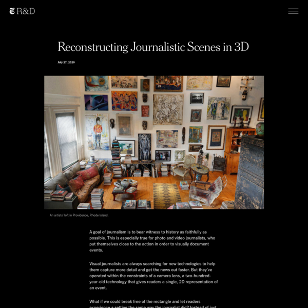 Reconstructing Journalistic Scenes in 3D | The New York Times - Research & Development