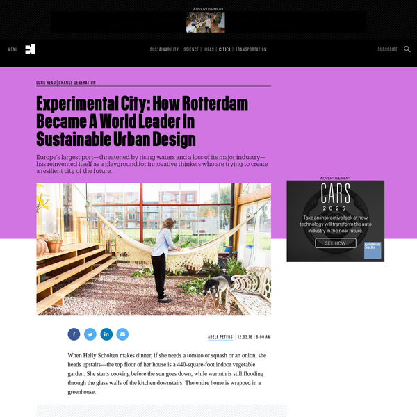 Experimental City: How Rotterdam Became A World Leader In Sustainable Urban Design