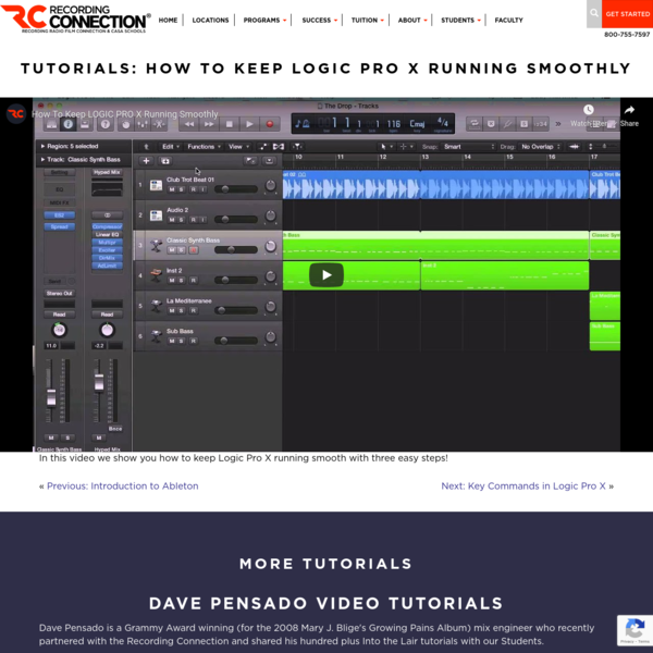 How to Keep Logic Pro X Running Smoothly | Recording Connection