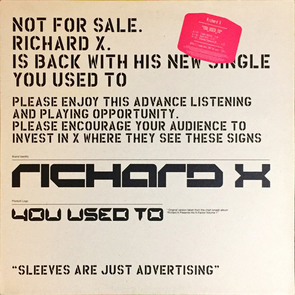 Richard X - You Used To