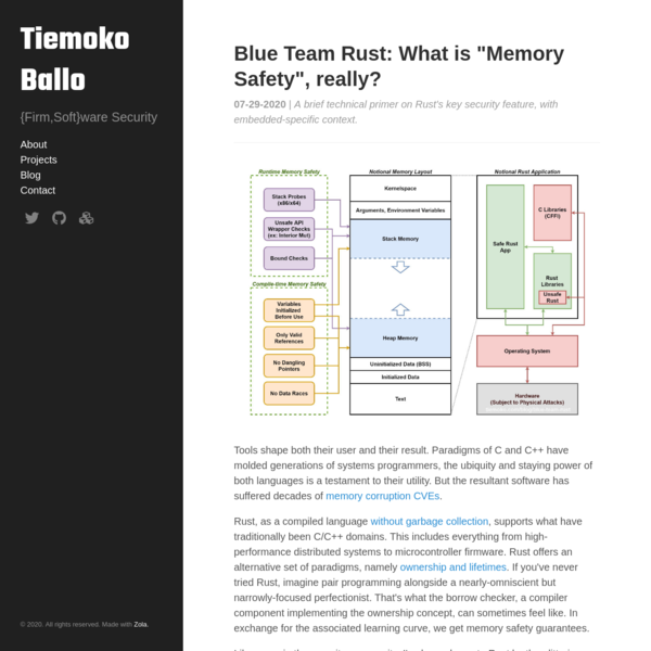 "Blue Team Rust: What is ""Memory Safety"", really?"