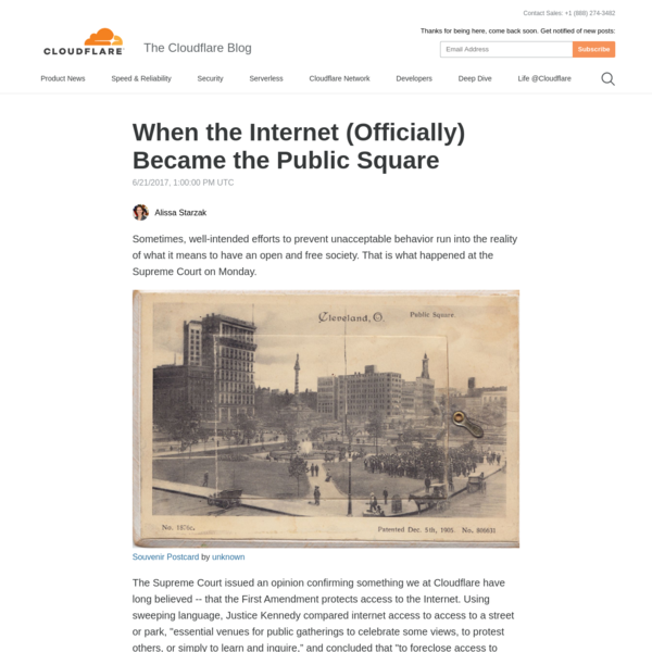 When the Internet (Officially) Became the Public Square