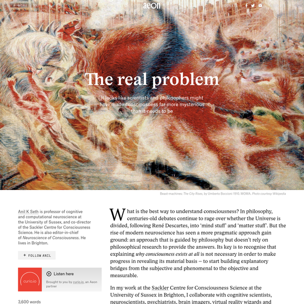 what is the hard problem of consciousness philosophy essay However, this view has been criticized because consciousness has yet to be shown to be a process, and the hard problem of relating consciousness directly to brain activity remains elusive cognitive science today gets increasingly interested in the embodiment of human perception, thinking, and action.