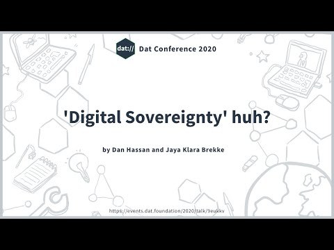 'Digital Sovereignty' huh?