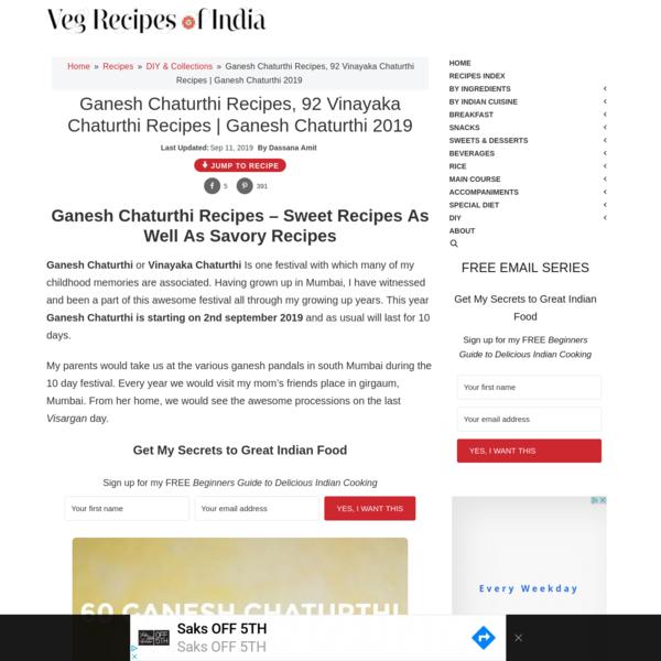 ganesh chaturthi recipes | vinayaka chaturthi recipes | ganesh chaturthi 2019