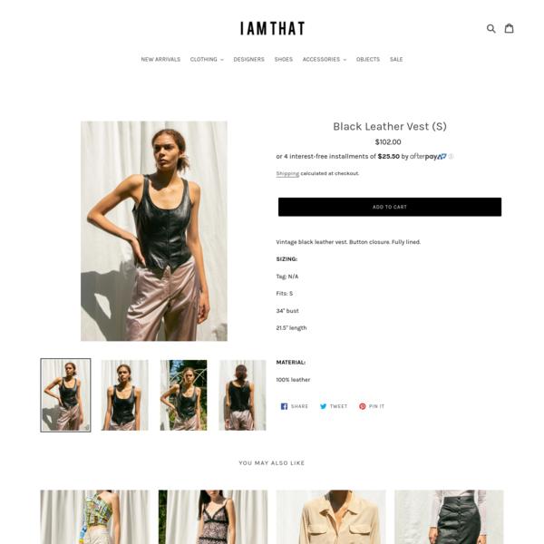 Black Leather Vest (S)