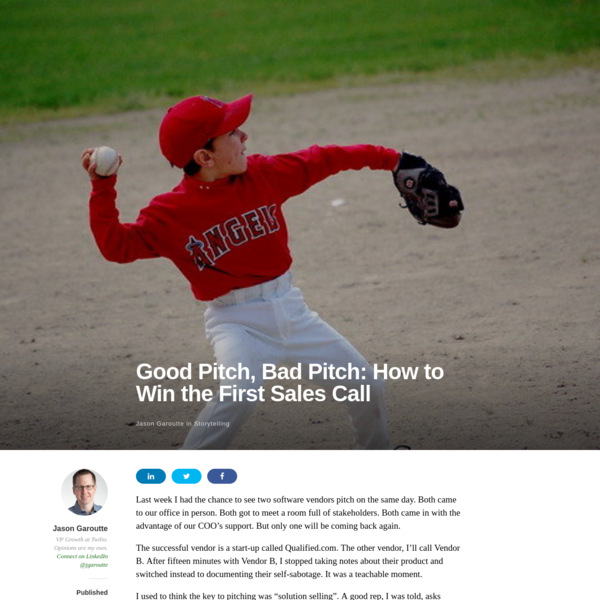 Good Pitch, Bad Pitch: How to Win the First Sales Call – The Growth Farmer