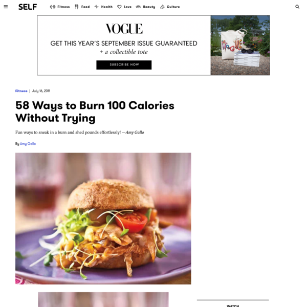 58 Ways to Burn 100 Calories Without Trying
