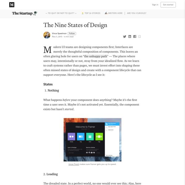 The Nine States of Design