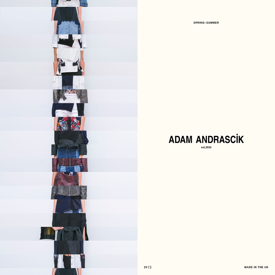 Adam Andrascik is a London-based womenswear fashion designer.