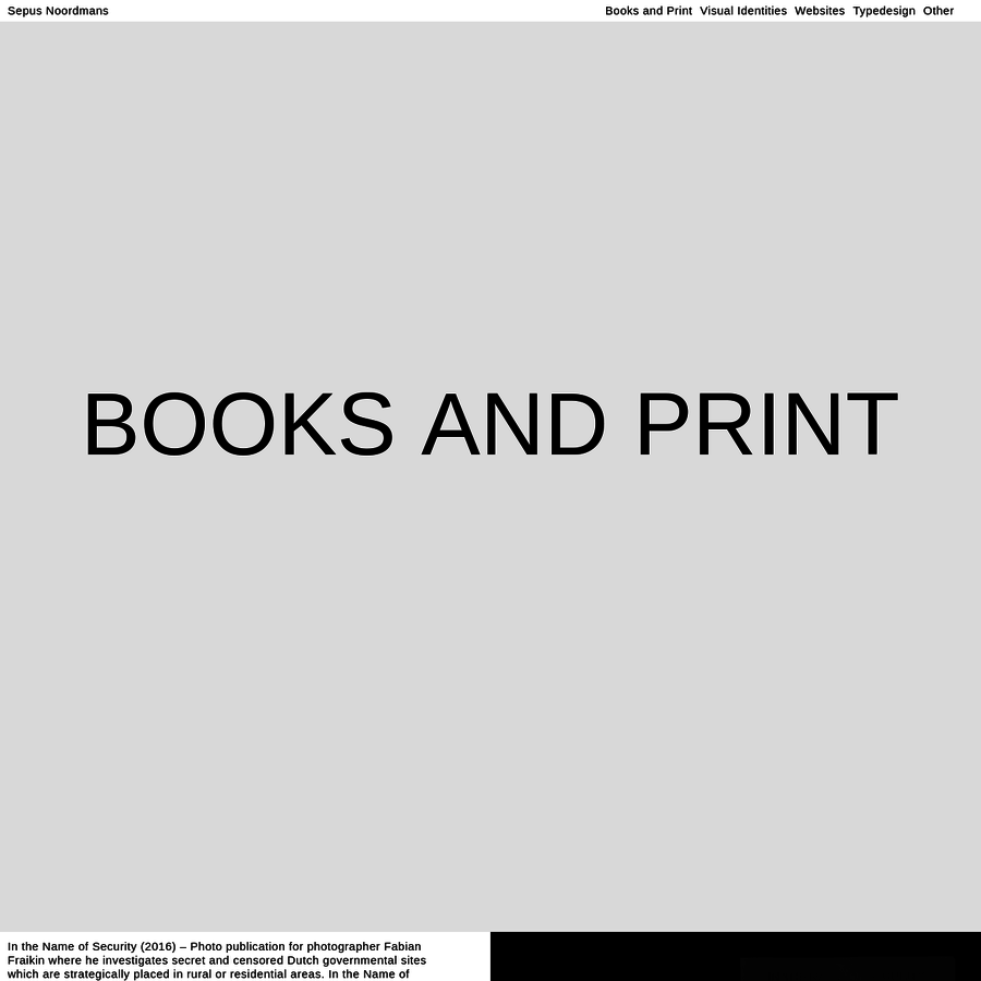 A graphic design studio based in Amsterdam, creating concepts and design for books, identities, websites and more for both cultural and commercial institutions.
