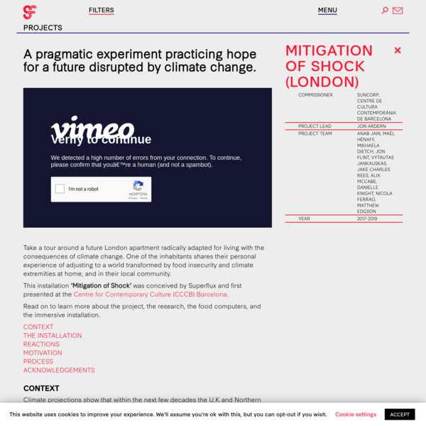 Mitigation of Shock (London) - Superflux