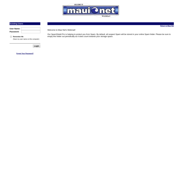 Web Mail - Maui Net