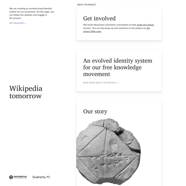 Wikipedia Tomorrow - Creating an evolved identity system for our free knowledge movement - Wikipedia Tomorrow