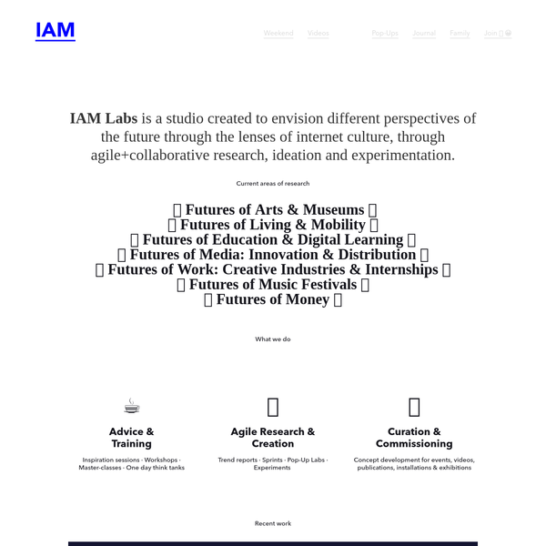 IAM - Internet Age Media cultivates the open ecosystem emerging from the evolution of internet as culture defining the futures of media