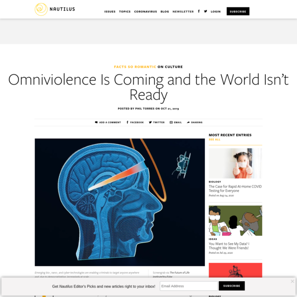 Omniviolence Is Coming and the World Isn't Ready - Facts So Romantic - Nautilus