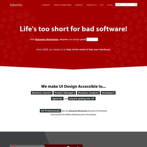 Balsamiq. Rapid, Effective and Fun Wireframing Software | Balsamiq
