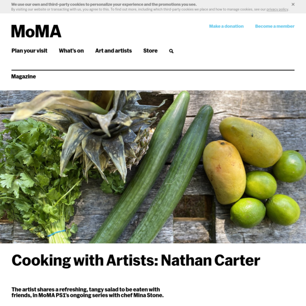 Cooking with Artists: Nathan Carter | Magazine | MoMA