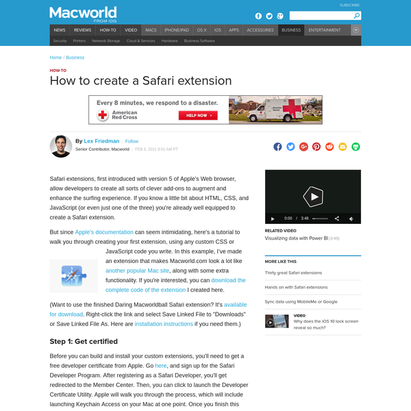 How to create a Safari extension