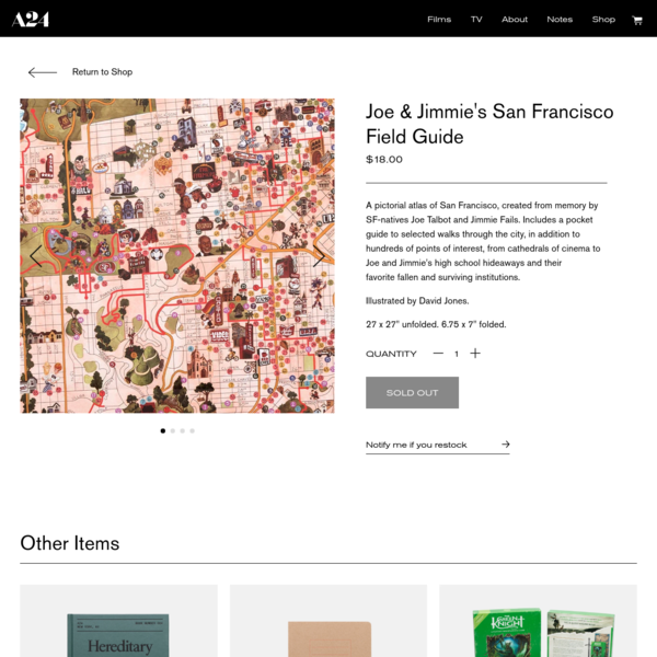 Joe & Jimmie's San Francisco Field Guide