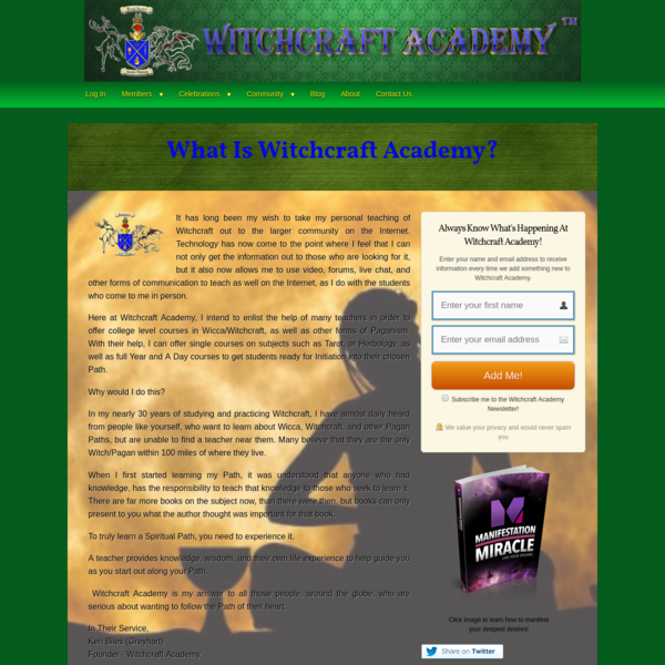 WA-Home - Witchcraft Academy
