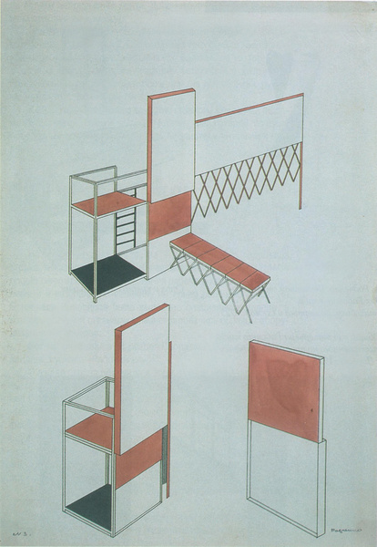 Chair for the interior of the workers club designed by Rodchenko 1925