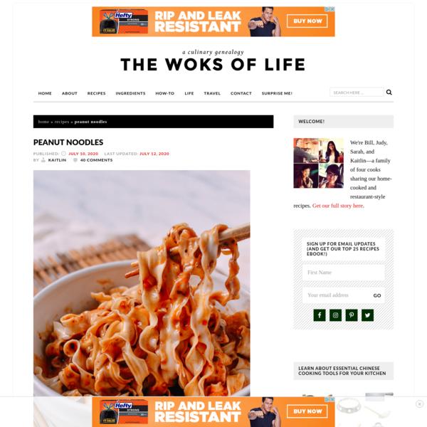 Perfect Peanut Noodles: FAST Recipe! | The Woks of Life