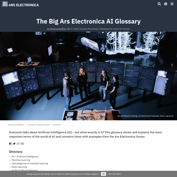 The Big Ars Electronica AI Glossary