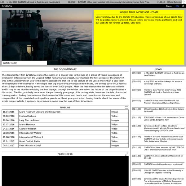 IUVENTA Everyone in Maritime Emergency Deserves Rescue