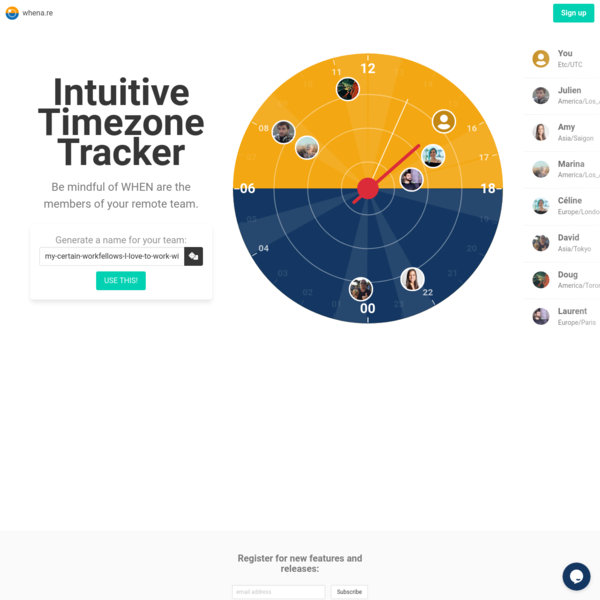 whena.re - Simple Timezone Viewer