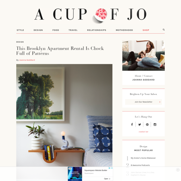 This Brooklyn Apartment Rental Is Chock Full of Patterns | A Cup of Jo