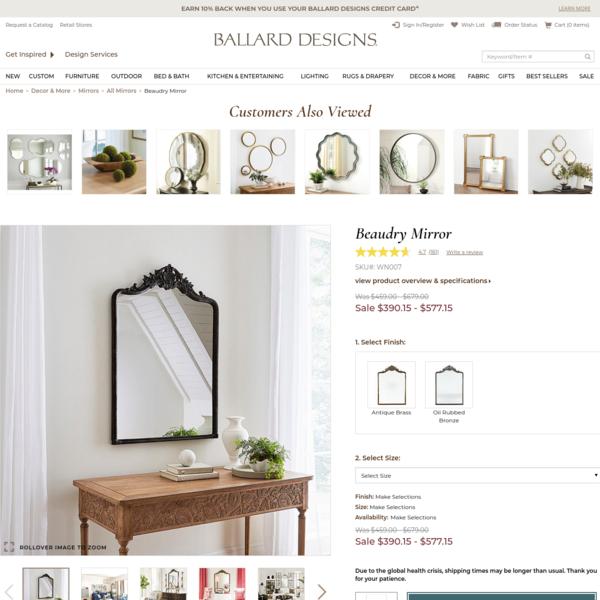 Beaudry Mirror | Ballard Designs