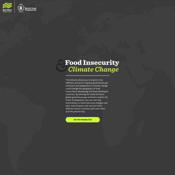 Food Insecurity & Climate Change - Met Office