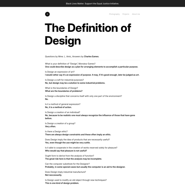 The Definition of Design