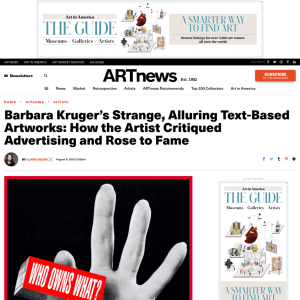 Barbara Kruger's Most Famous Artworks and Exhibitions – ARTnews.com