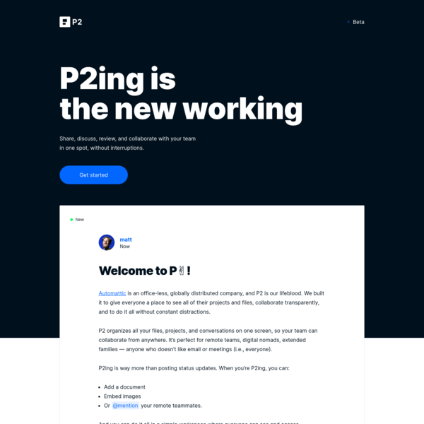 P2 — The New Working