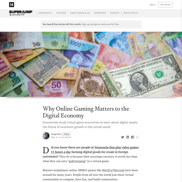 Why Online Gaming Matters to the Digital Economy