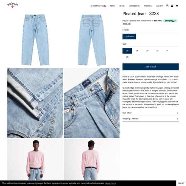Pleated Jean