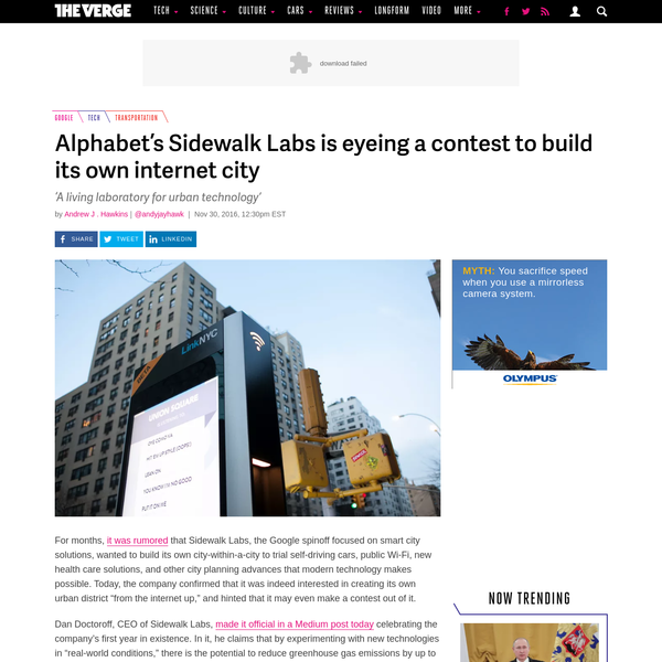 For months, it was rumored that Sidewalk Labs, the Google spinoff focused on smart city solutions, wanted to build its own city-within-a-city to trial self-driving cars, public Wi-Fi, new health...