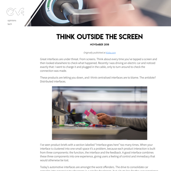 Think outside the screen - George Cave