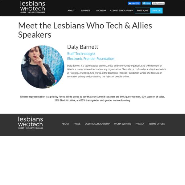 Daly Barnett - Lesbians Who Tech & Allies