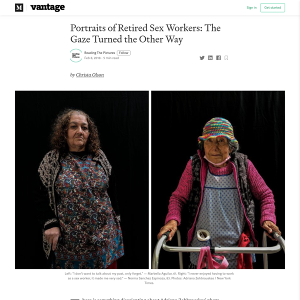Portraits of Retired Sex Workers: The Gaze Turned the Other Way