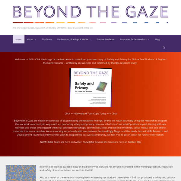 Beyond The Gaze - The working practices, regulation and safety of Internet-based sex work in the UK